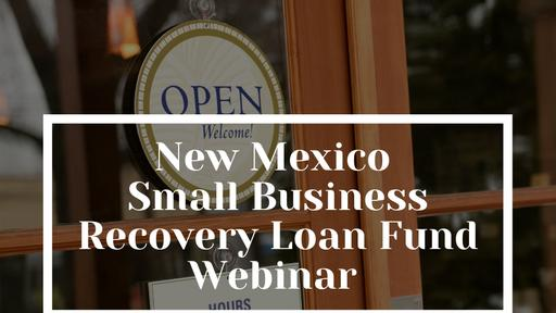Small Business Recovery Loan Fund Webinar Series for Lenders, Intermediaries & Business